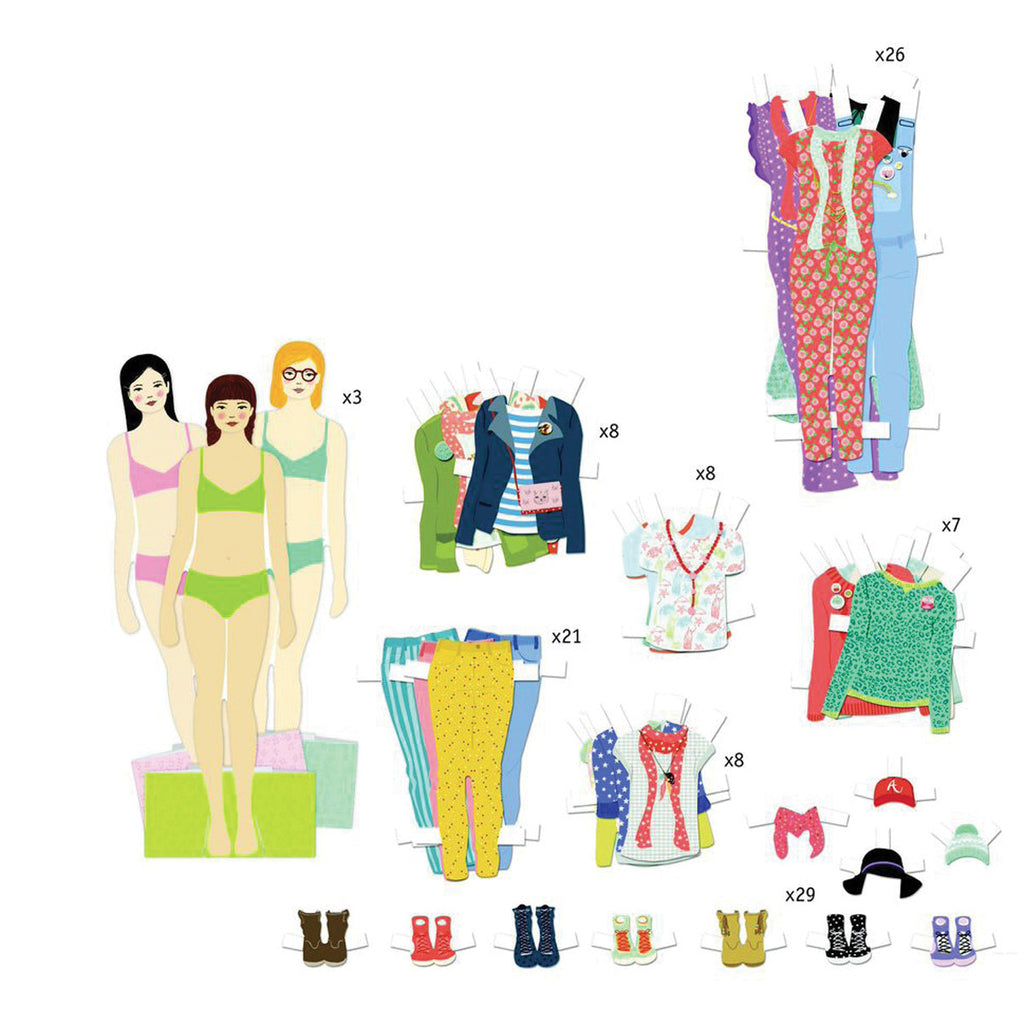 Djeco Art- Paper Dolls - Big Dressing Room DJ09825
