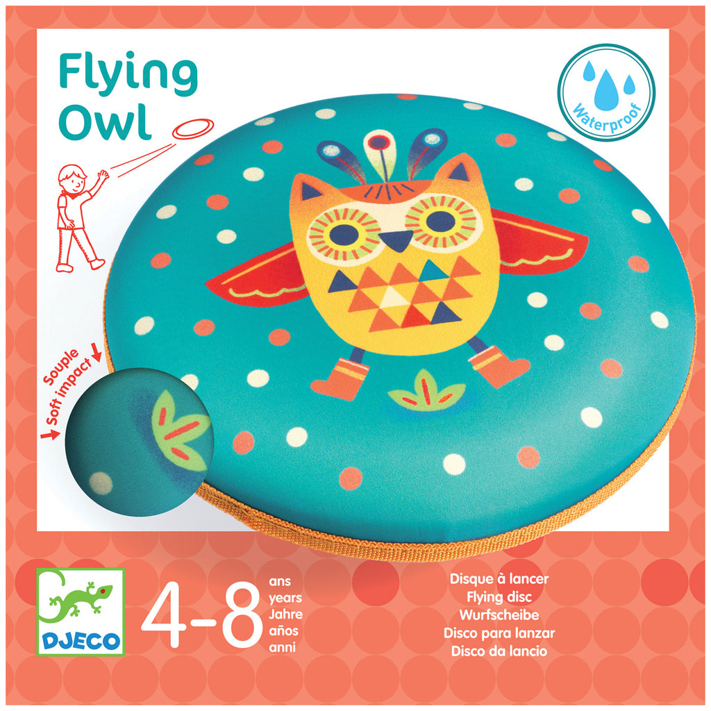 Djeco Outdoors - Flying Owl Disc