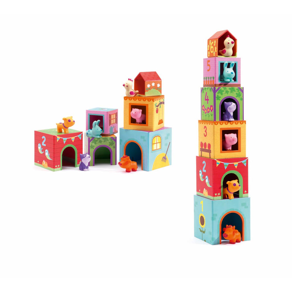 Djeco Toys - Topanifarm Stacking Blocks