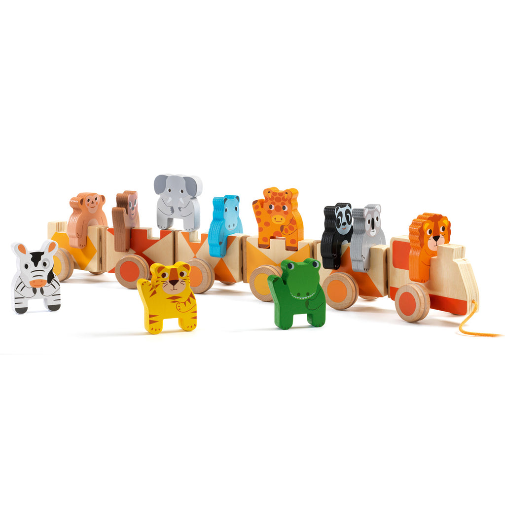 Djeco Wooden Toys - Trainimo Jungle