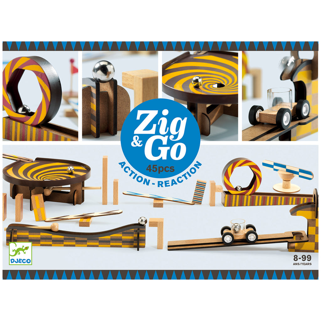 Djeco Construction - Zig & Go - 45 pcs
