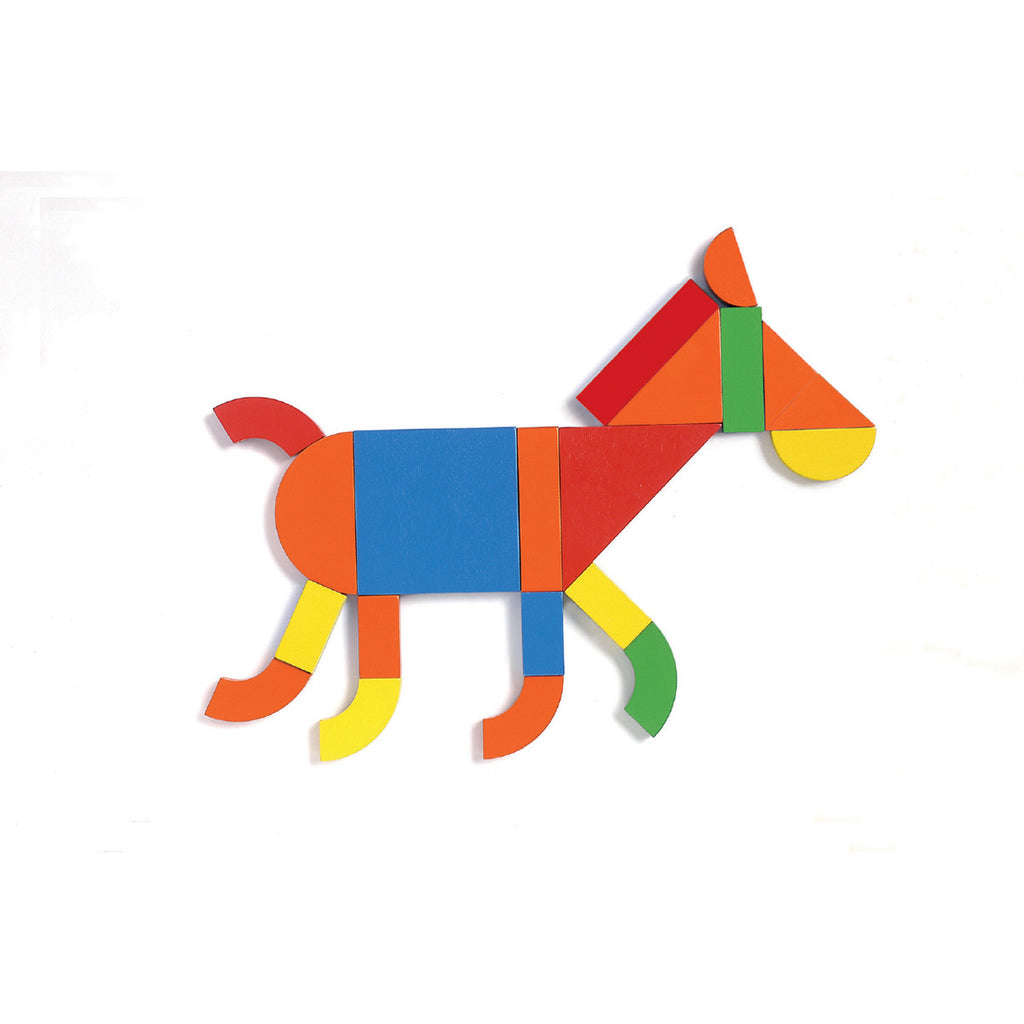 Djeco Game- Geoform Magnetics Horse Detail DJ03130