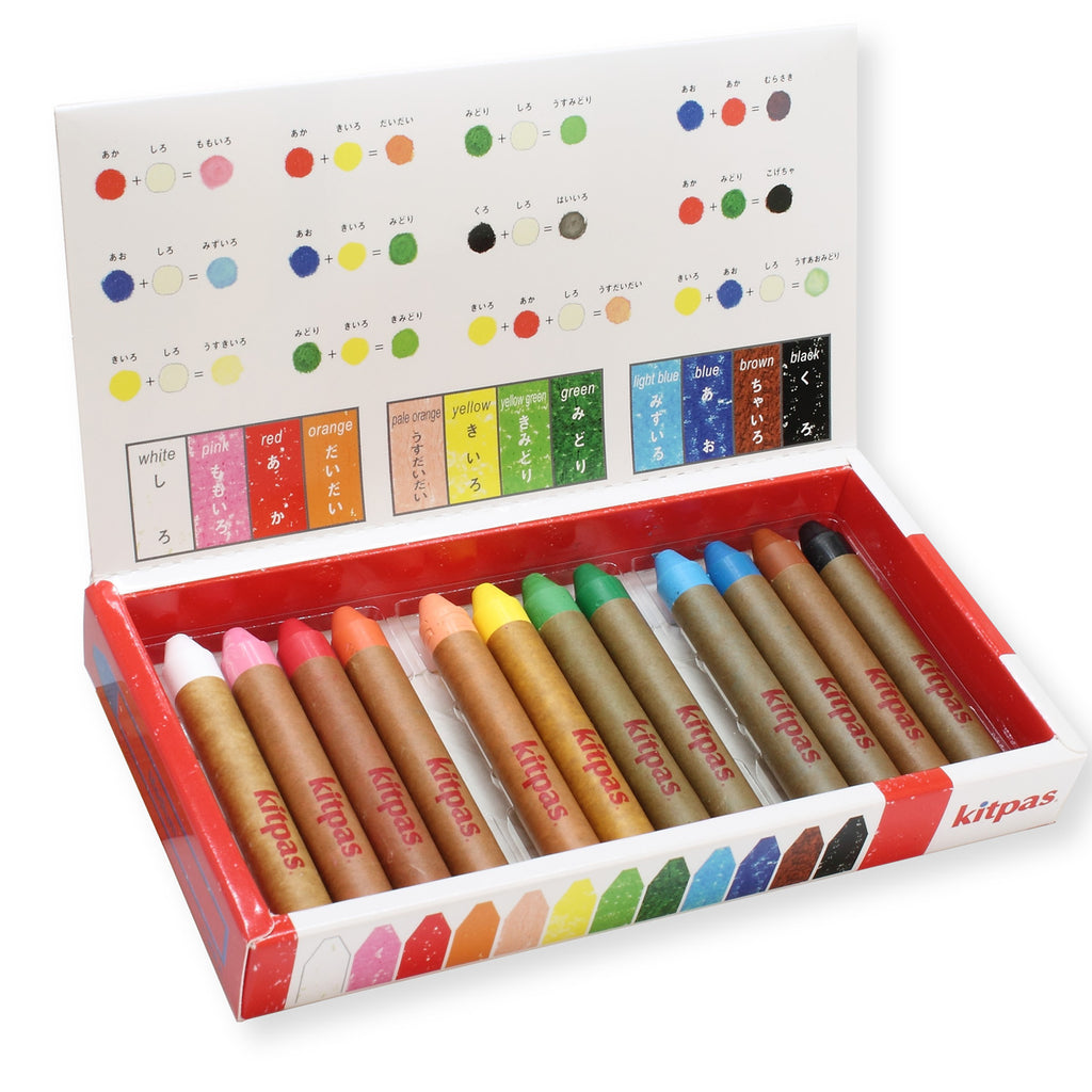 Kitpas Medium Crayons 12 Colours