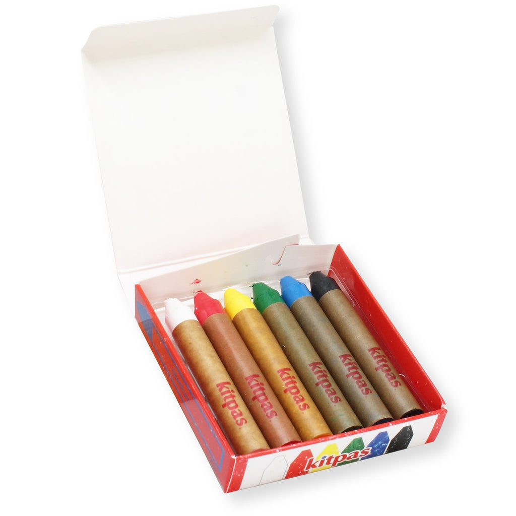 Kitpas Medium Crayons - 6 Colours
