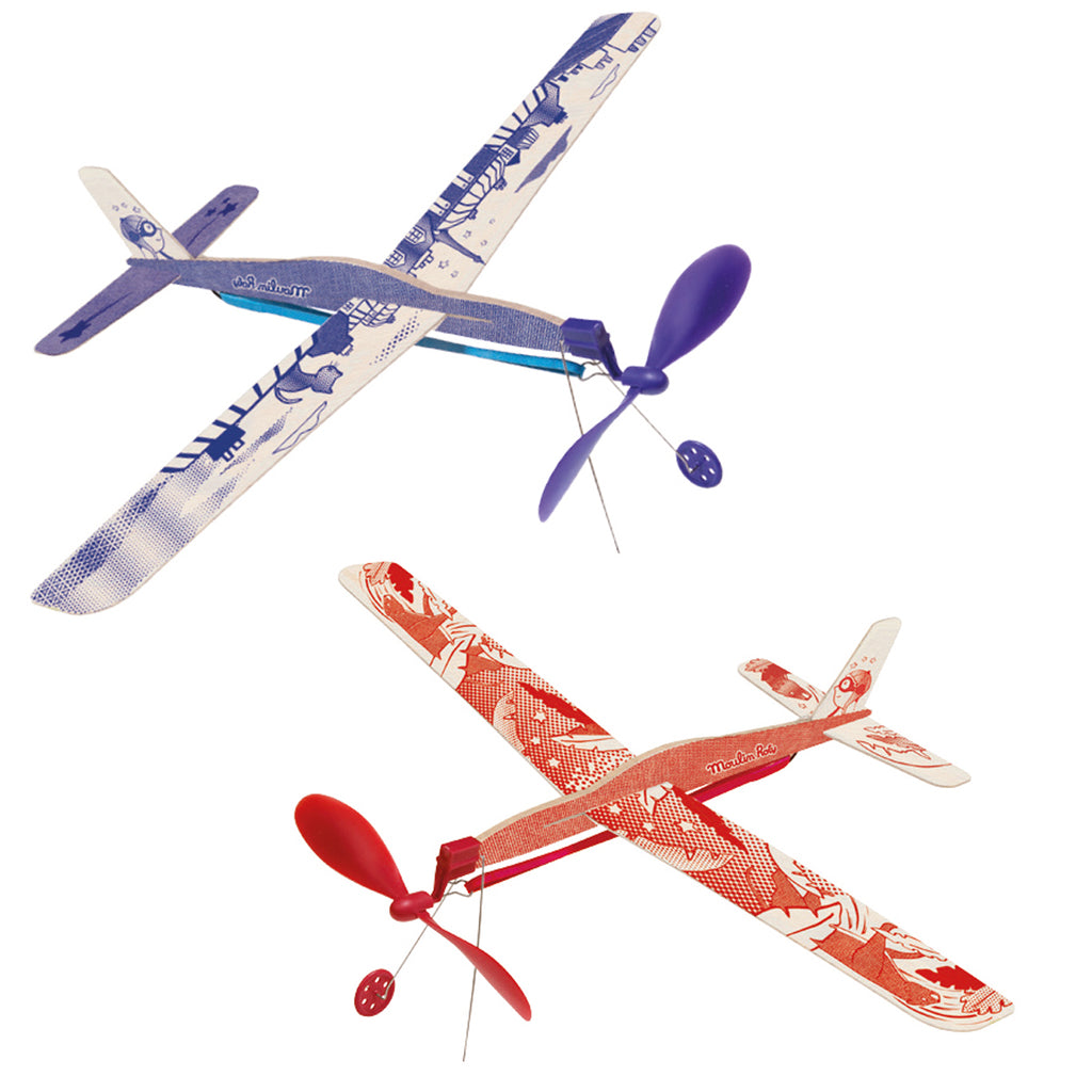 Moulin Roty Classic Rubber Band Plane