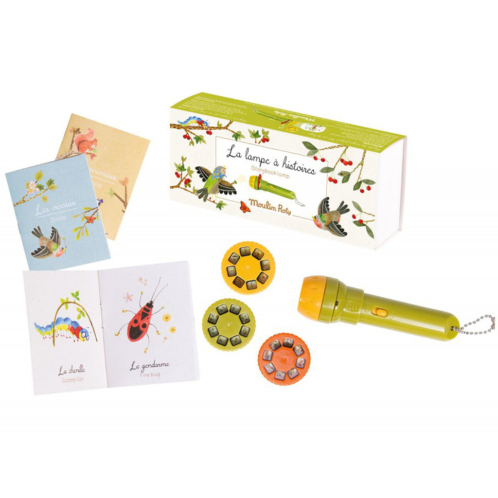 Moulin Roty Le Jardin Story Book Torch Set