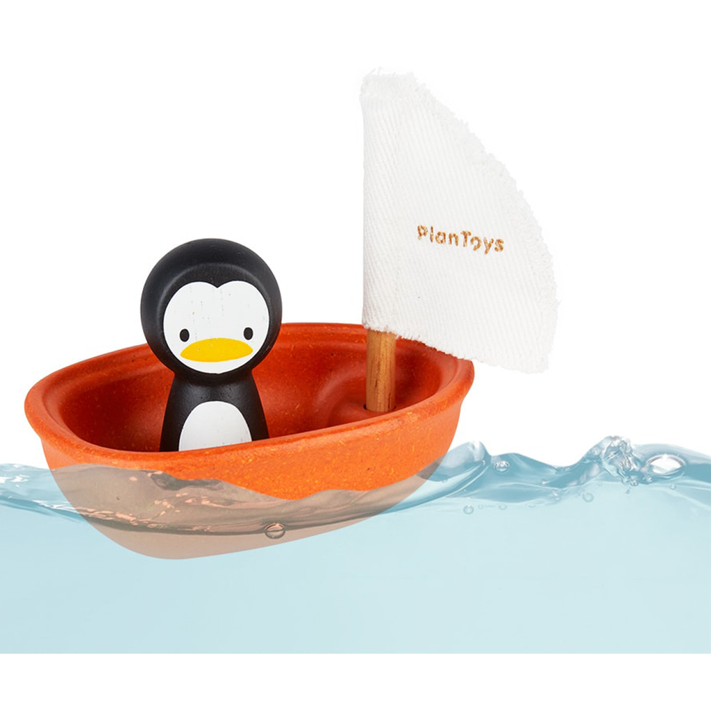 Plan Toys Sailing Boat-Penguin