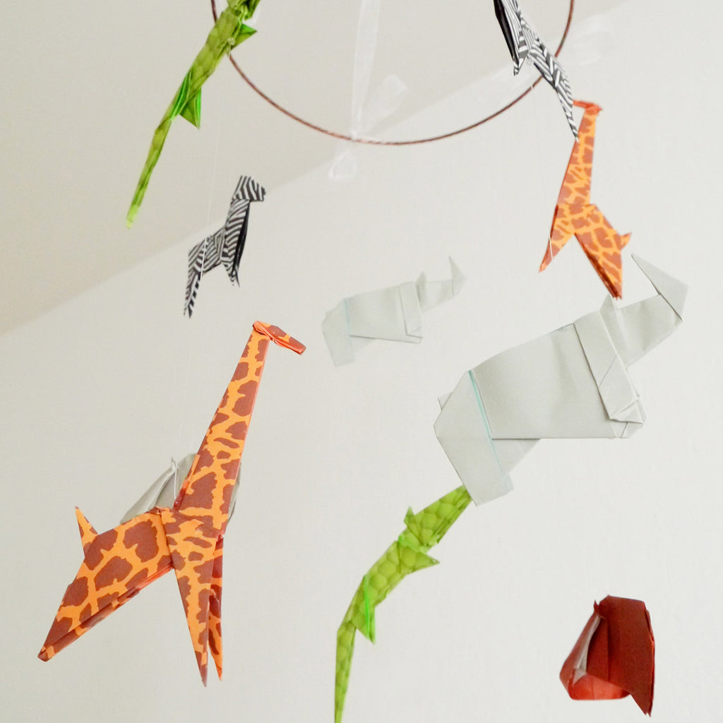 Origami Mobile Animals of The Savannah