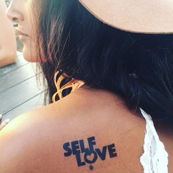 Conscious ink inspirational long lasting temporary tattoos for Self love tattoos