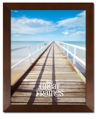Madeline Walnut Wood Picture Frame with Clear Glass