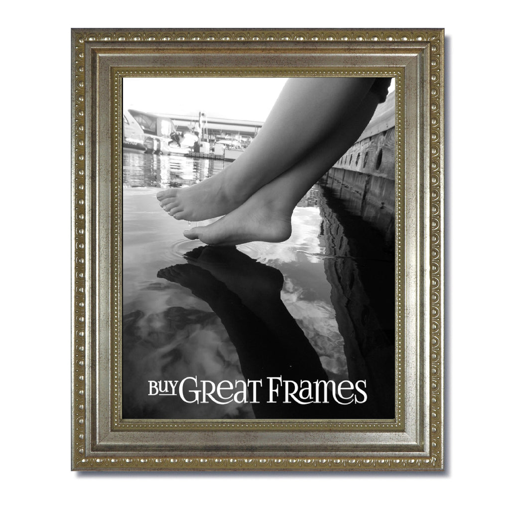 Ornate Heritage Silver Picture Frame with Clear Glass – Buy Great Frames