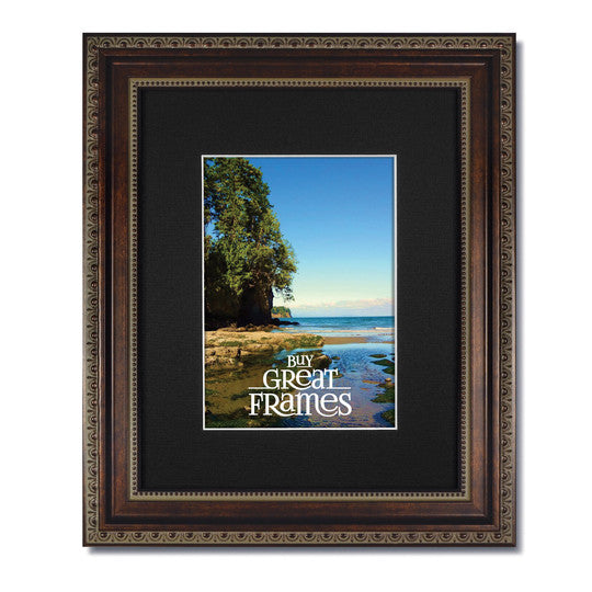 Ornate Heritage Bronze Frame With Clear Glass And Single