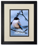 Madeline Black Wood Frames with Warm White/Black Mats and Clear Glass