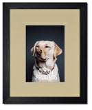 Madeline Black Wood Frames with Ivory/Ivory Mats and Clear Glass
