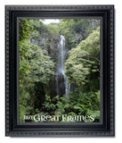 Ornate Heritage Black Picture Frame with Clear Glass