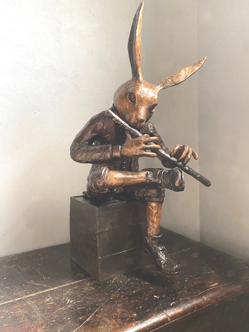 Rabbit With Flute Maquette (SML)