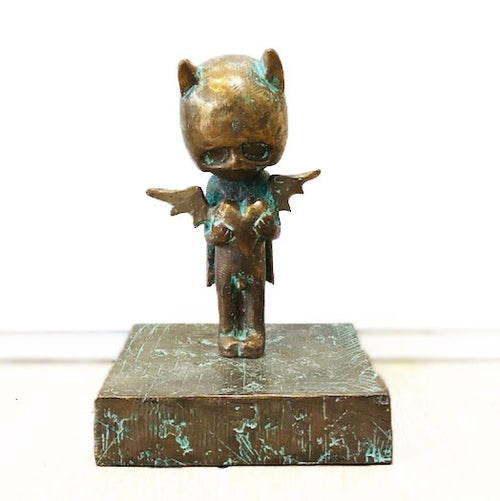 Art Gallery - Bat Boy with Heart - Bronze (FH)
