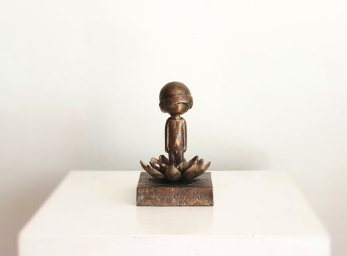 Warrior on Lotus - Bronze (FH)