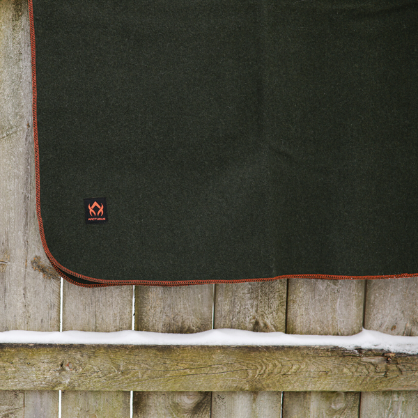"Arcturus Military Wool Blanket - Olive Green | 4.5 lbs (64"" x 88"")"