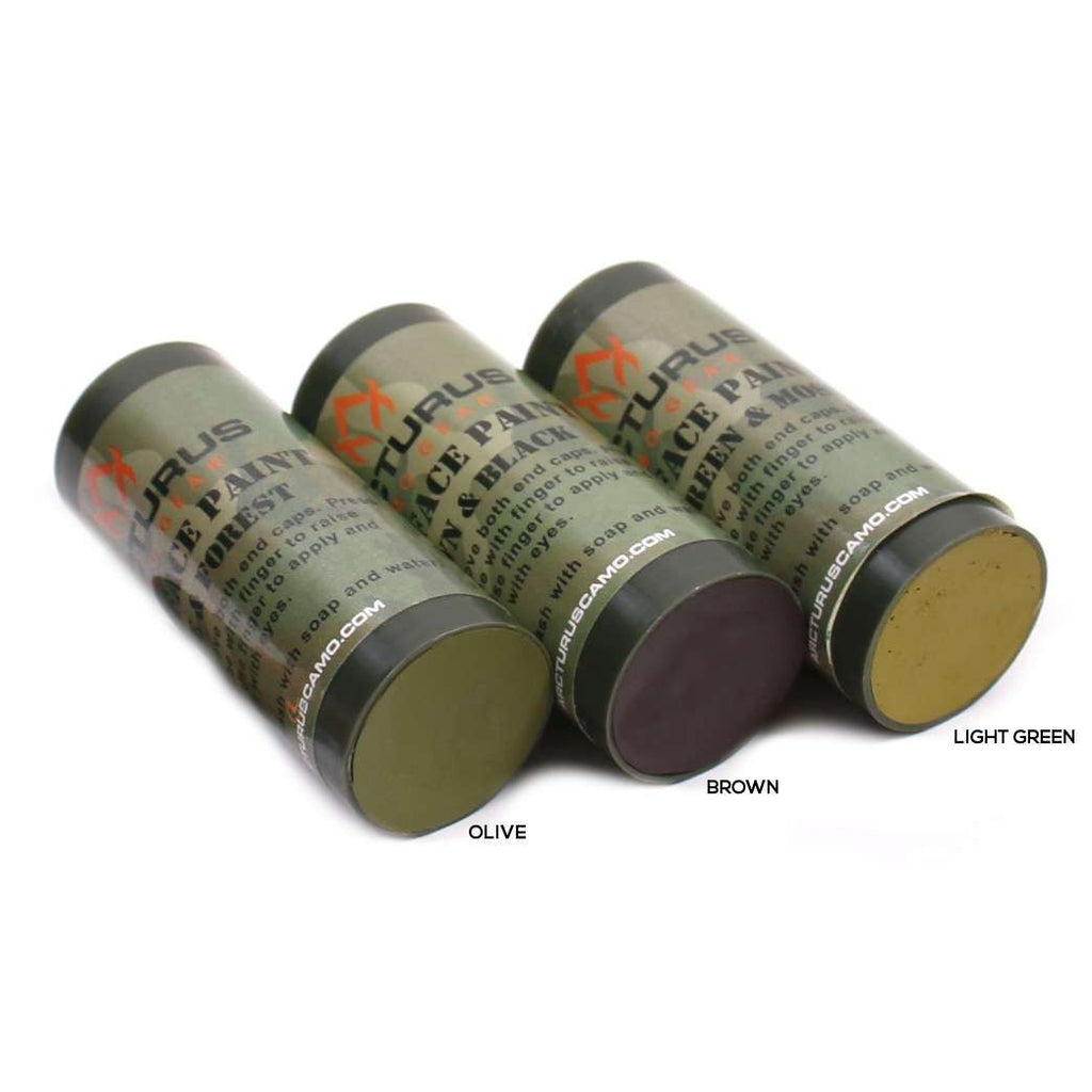 Arcturus Camo Face Paint Sticks 6 Colors In 3 Double Sided Tubes