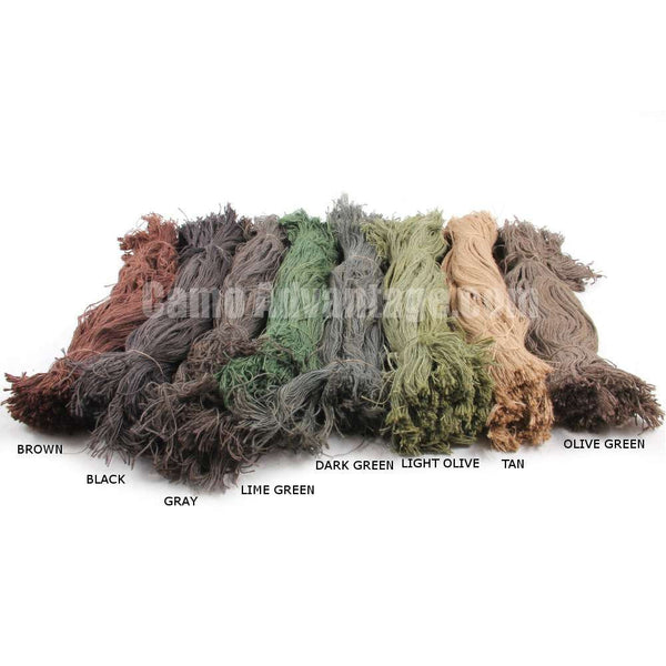Large Jute Ghillie Kit with Custom Colors - Fire Retardant