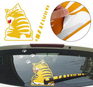 Rear Wiper Cat Decal.