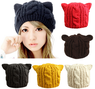 Fashion Girls Winter Cat Ear Hat