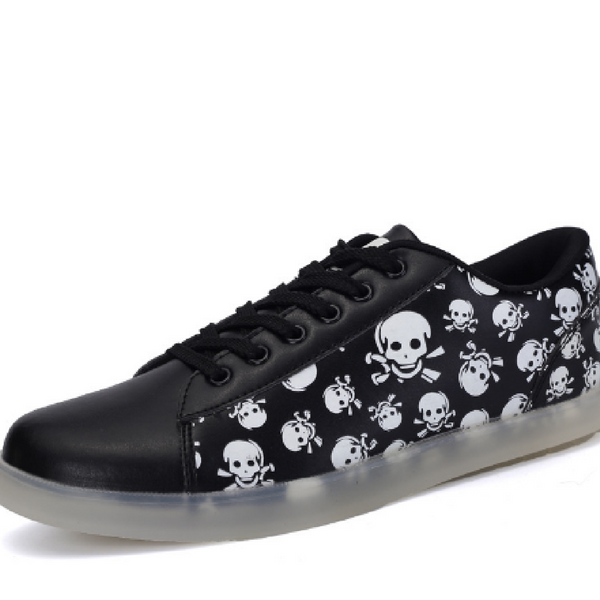 SKULL LUMINOUS SHOES FOR MEN AND WOMEN