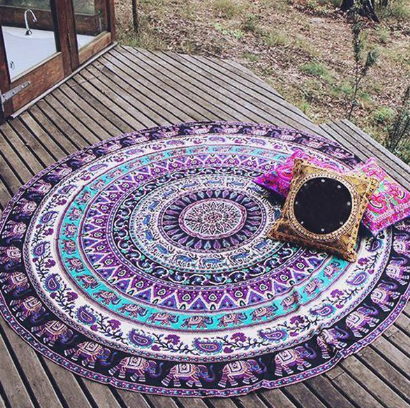 Indian Elephant Mandala Blanket - Free Shipping!!