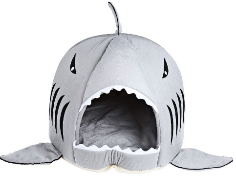 Shark Cat House With Removable Bed Cushion.