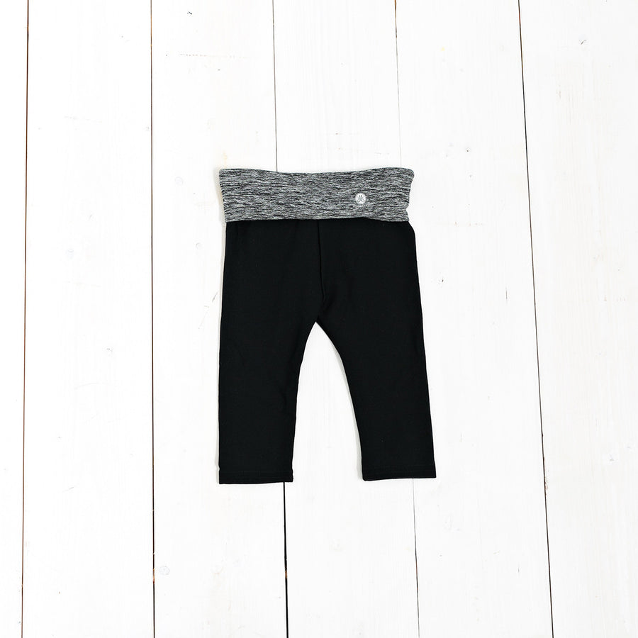 Heather Fold Over Yoga Leggings