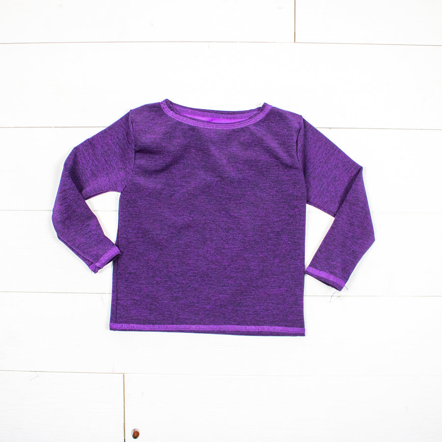 Silk Collection- Dark Purple Long Sleeve