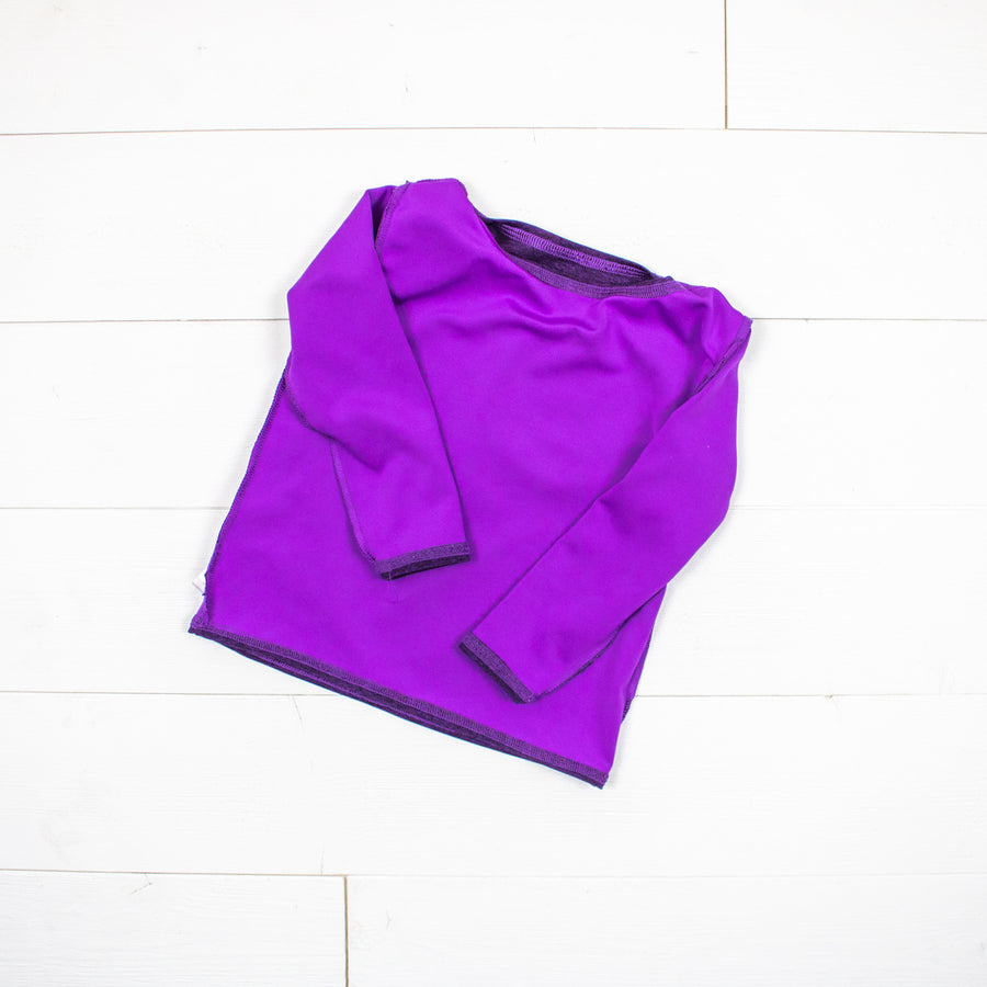 Silk Collection- Bright Purple Long Sleeve