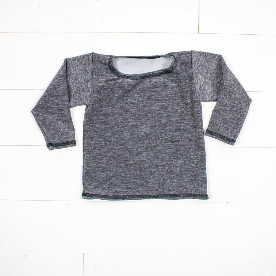 Silk Collection- Dark Gray Long Sleeve