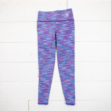 Lotus High Waist Leggings-Mauve Strata