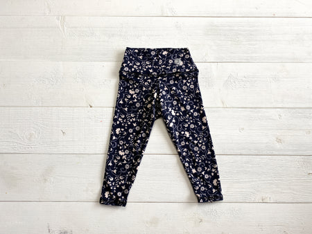 Navy Floral Leggings