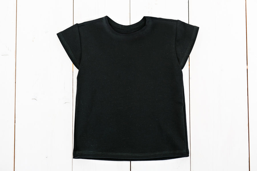 Black Relaxed Short Sleeve