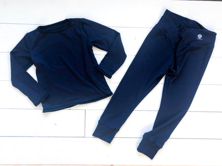 Navy Joggers Set. Softest fabric you'll ever feel
