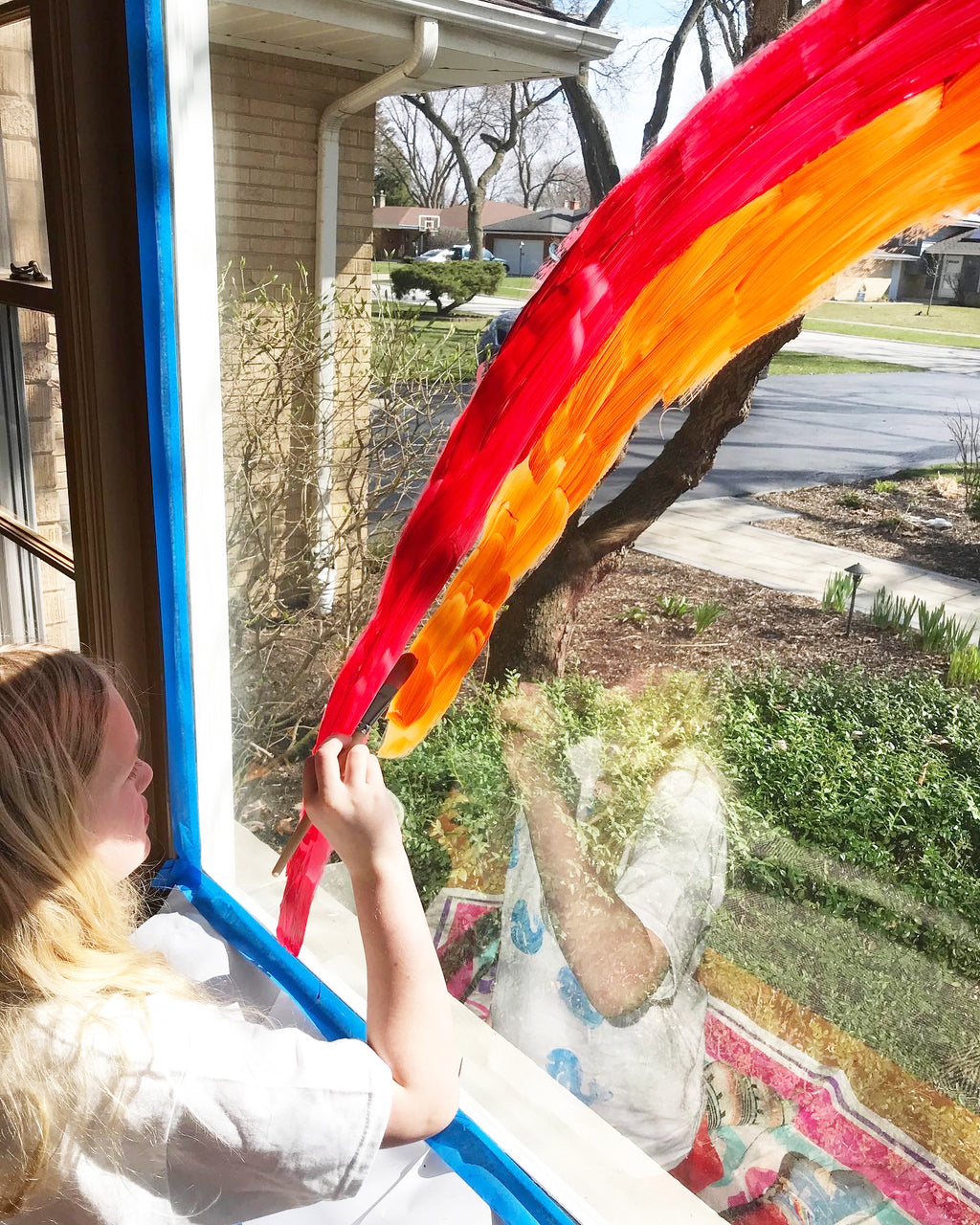 Window Art with Washable Paint