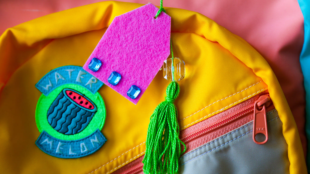DIY Backpack Luggage Tags Craft for Kids