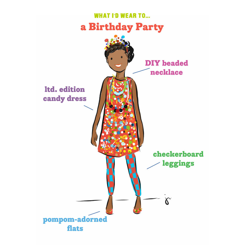 Kids fashion and style inspiration for birthday party