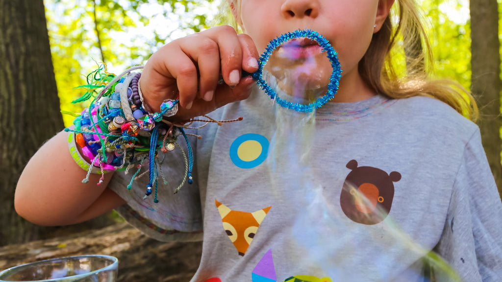 DIY Sparkle Bubble Wand Craft Activity for Kids
