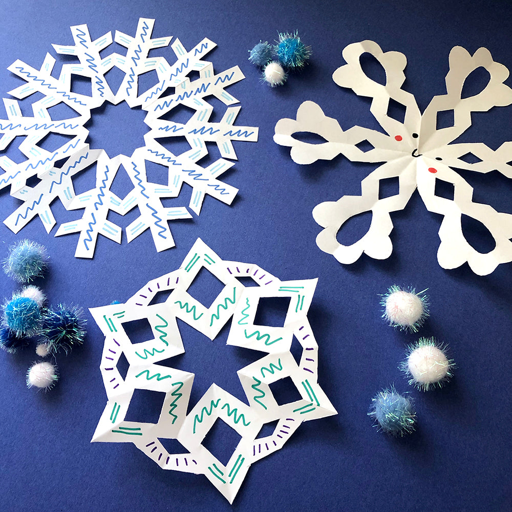 Paper Snowflake Instruction Printable