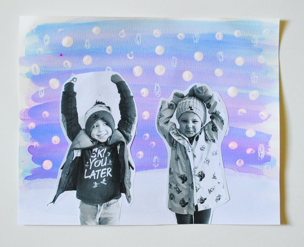DIY Winter Watercolor Art