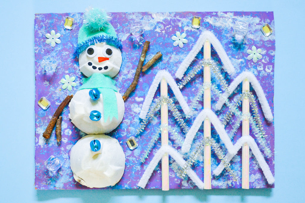 Make Your Own Snowman Collage