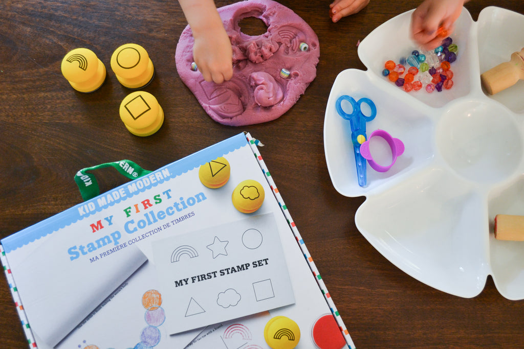 Homemade Playdough and Stamps