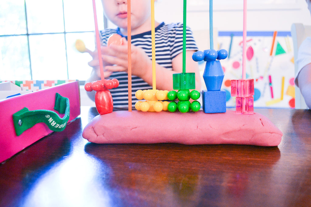 Bead Sorting Activity for Toddlers