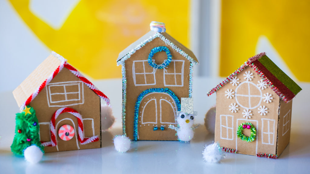 Cardboard Gingerbread House DIY