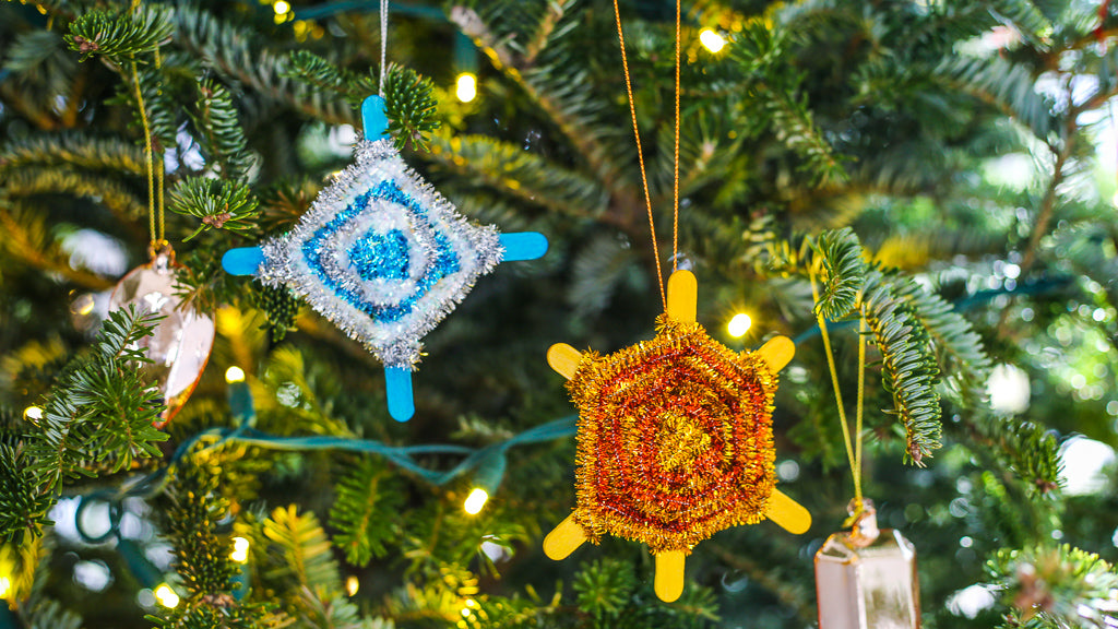Diamond Camp Ornament DIY