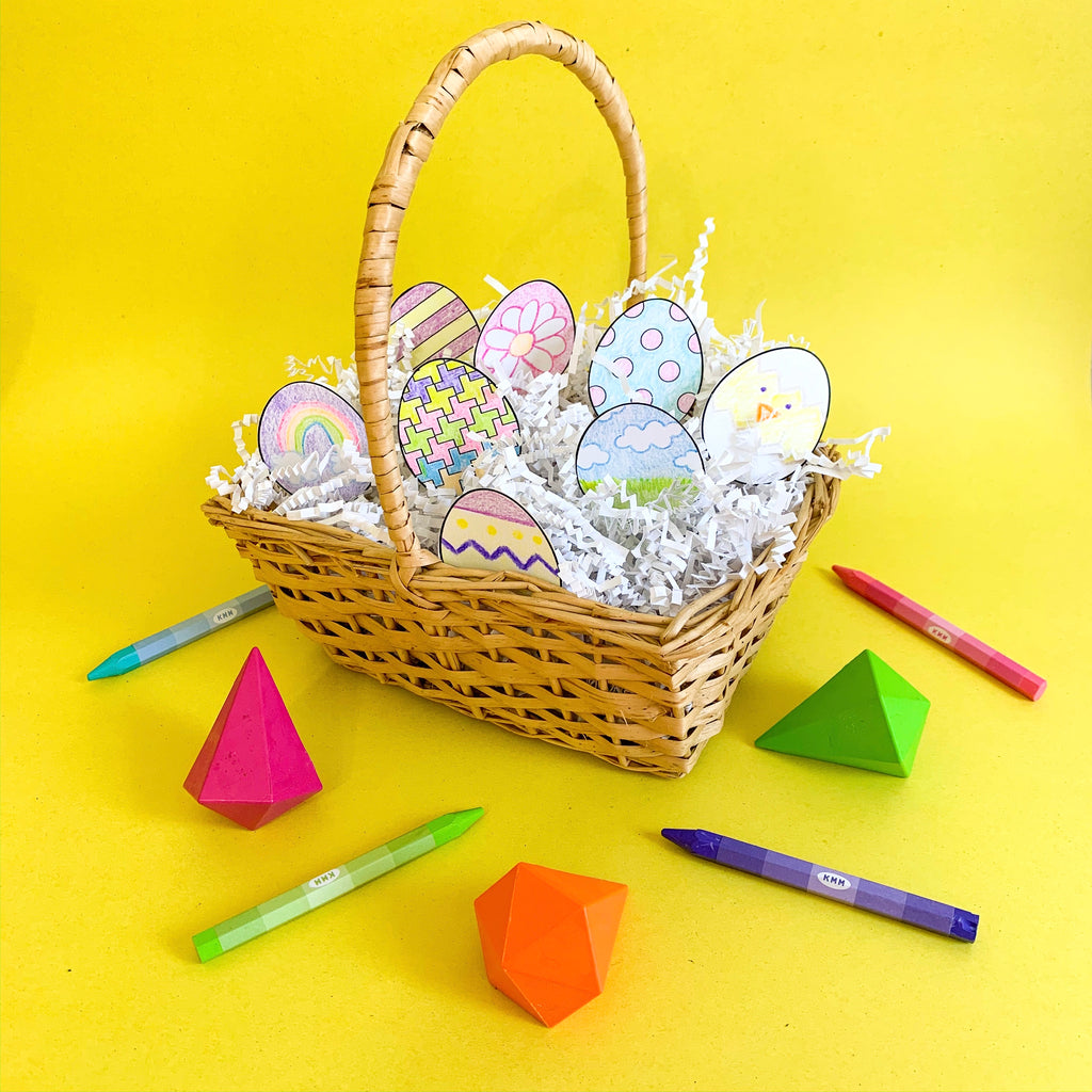 Color Your Own Easter Eggs - Free Printable